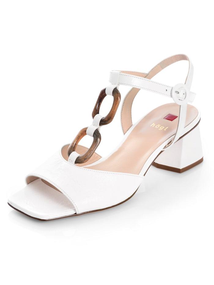 Högl Sandalette aus weichem Lammleder, Off-white