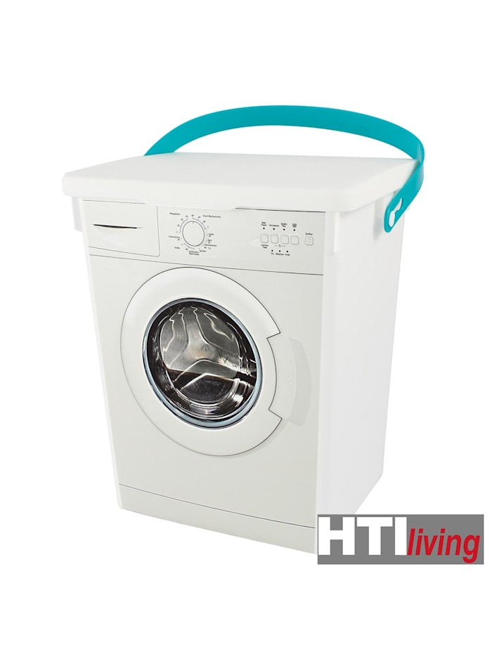 HTI-Living Eimer mit Deckel Motiv Waschmaschine, Bunt