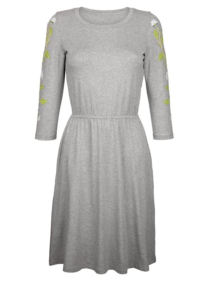 Dress In Kuminauhavyötäröinen trikoomekko, Vaaleanharmaa