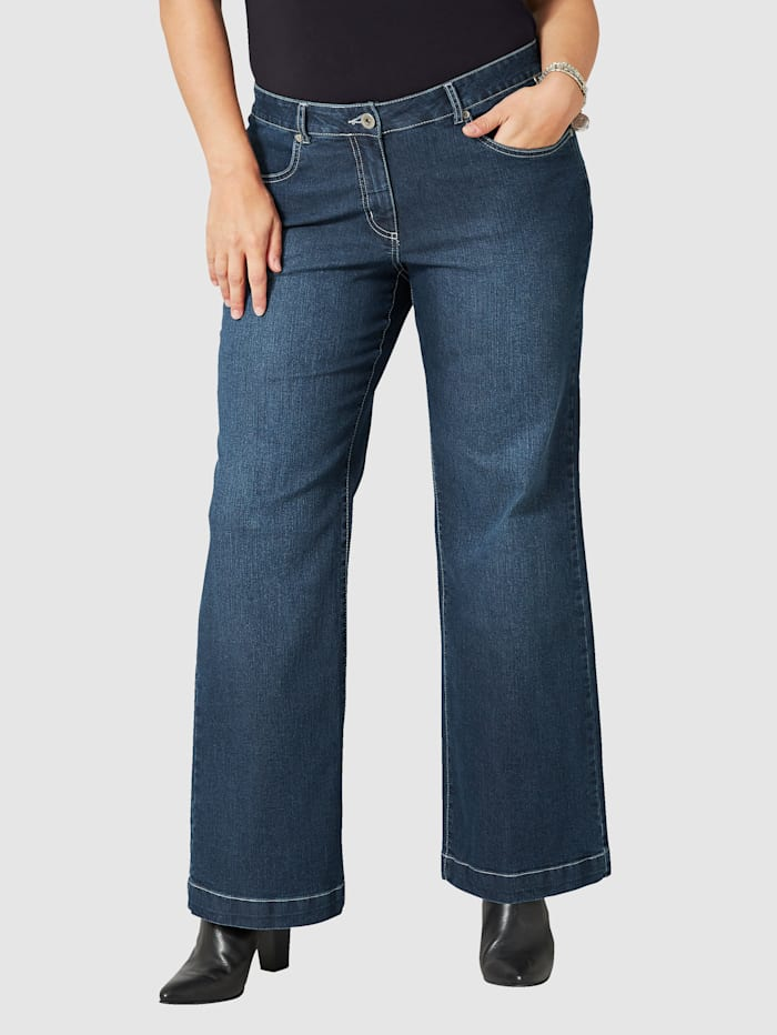 Dollywood Jeans NORA Wide Leg, Donkerblauw