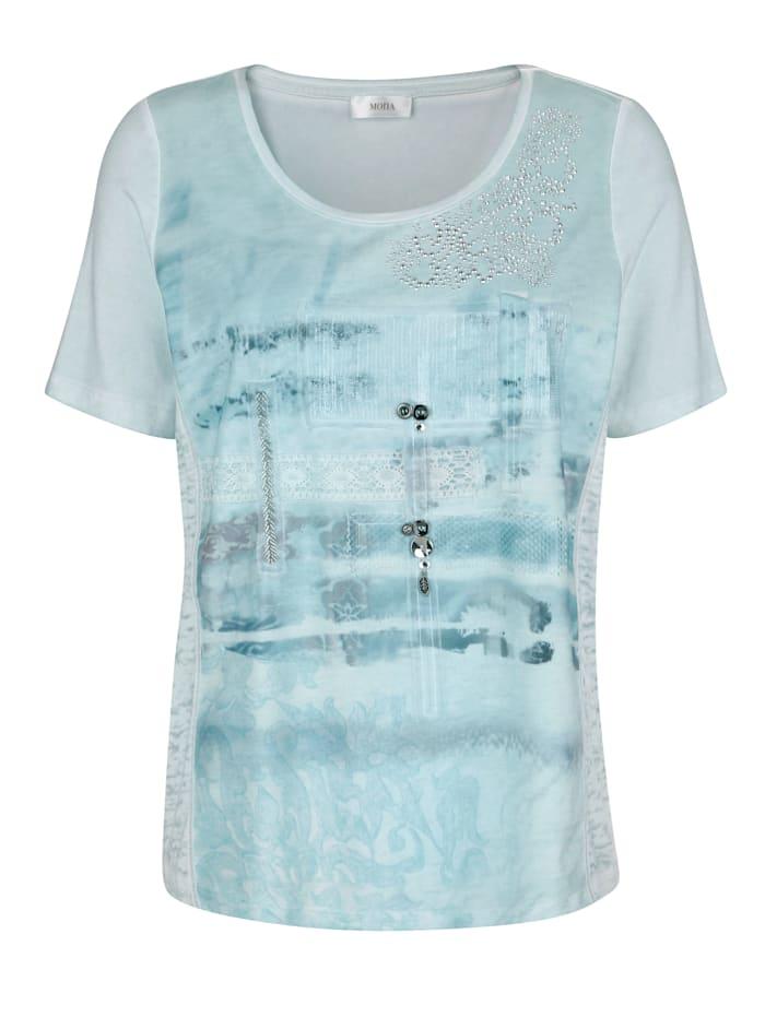 T-shirt à détails patchwork
