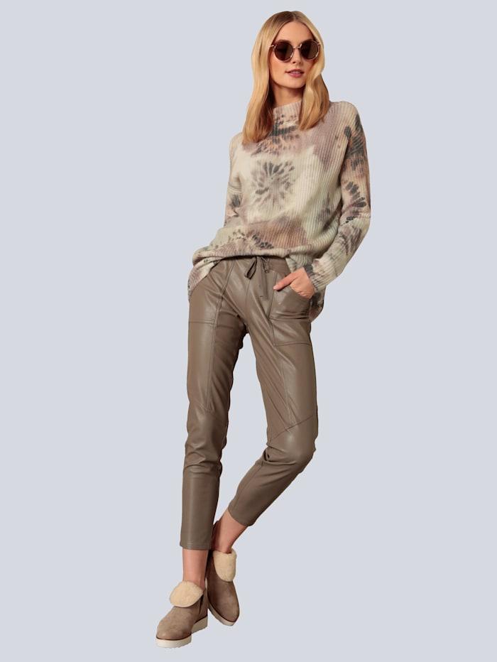 Hose aus veganem Lederstretch