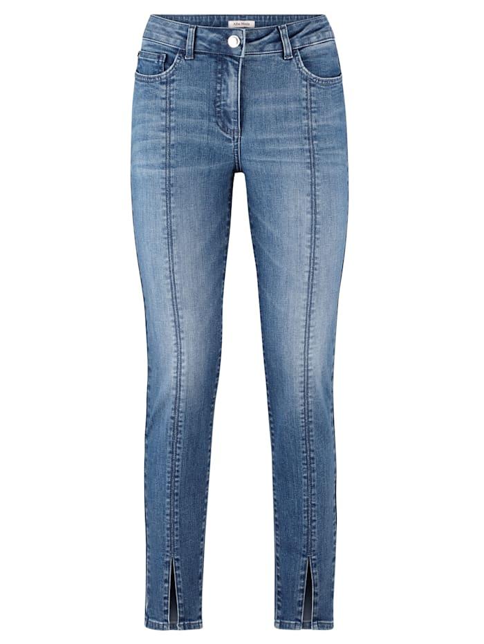 Jeans met decoratieve naden voor