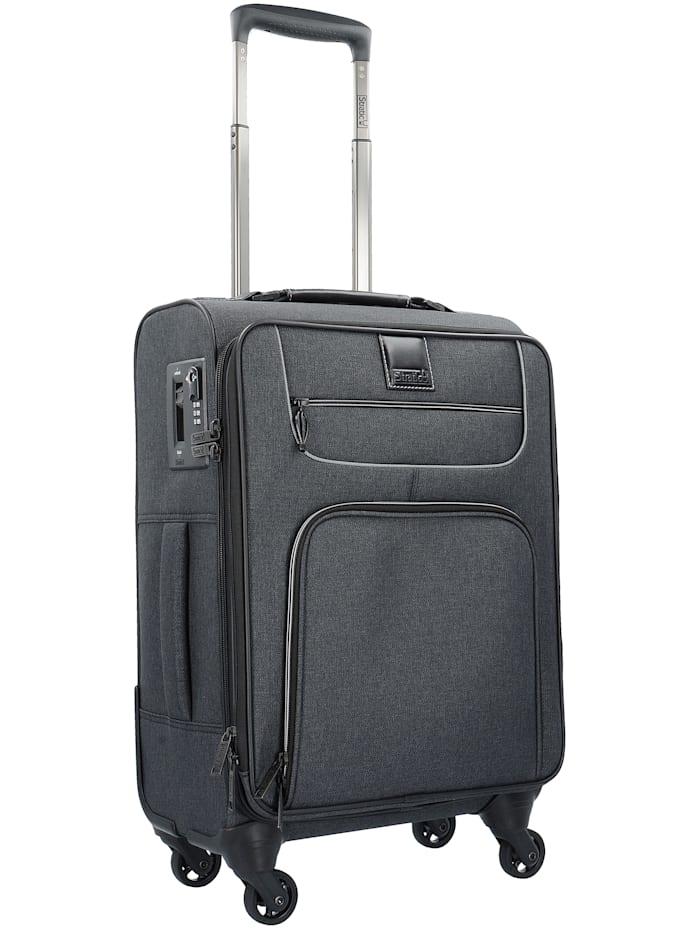 Go First S 4-Rollen Kabinentrolley 55 cm Laptopfach Tragegriff,  Packriemen innen, Hemdenfach, Adressanhänger