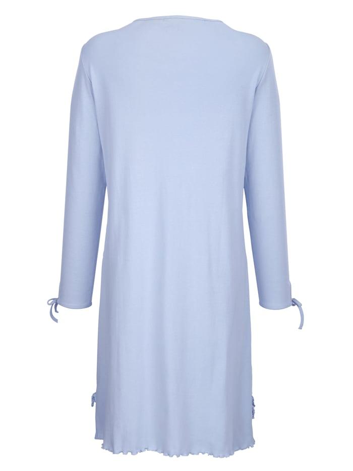 Nachthemd van comfortabele geribde jersey