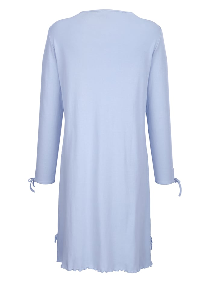Nightdress made from ribbed cotton