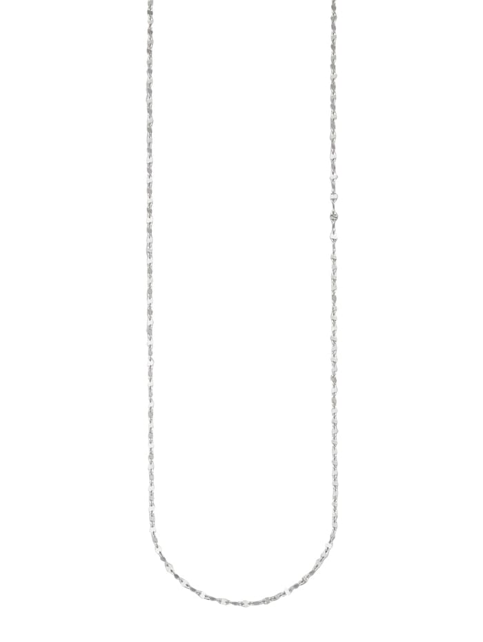 Chaîne maille ancrée or blanc 585