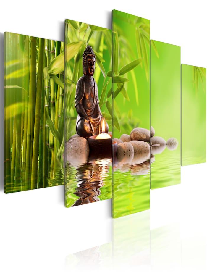 artgeist Wandbild Tibetischer Denker, green,grey,brown