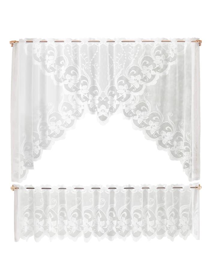Gardinset – komplett fönster, vit