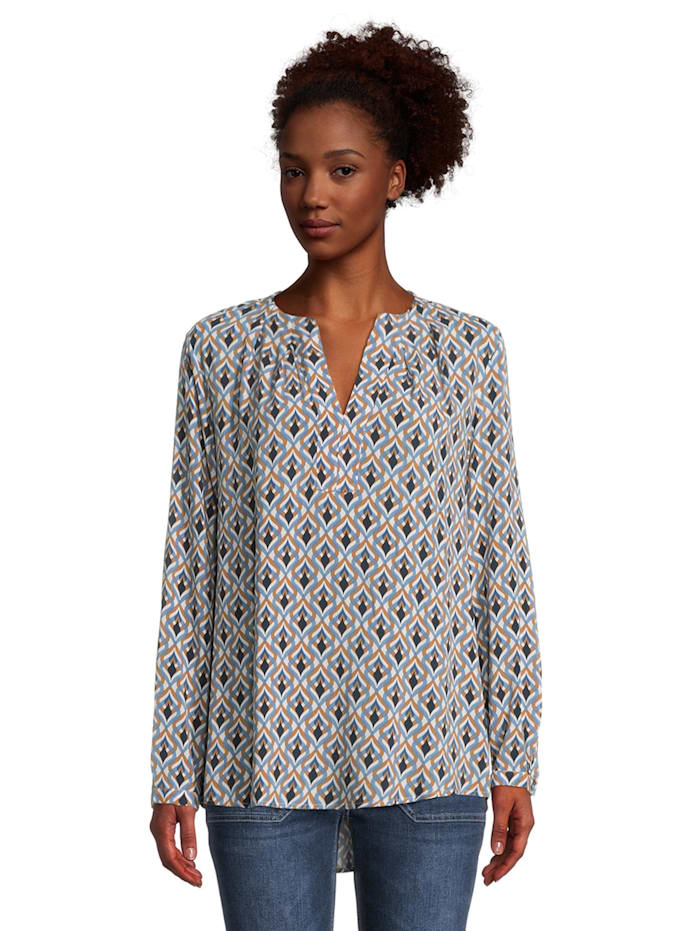 Casual-Bluse mit Muster