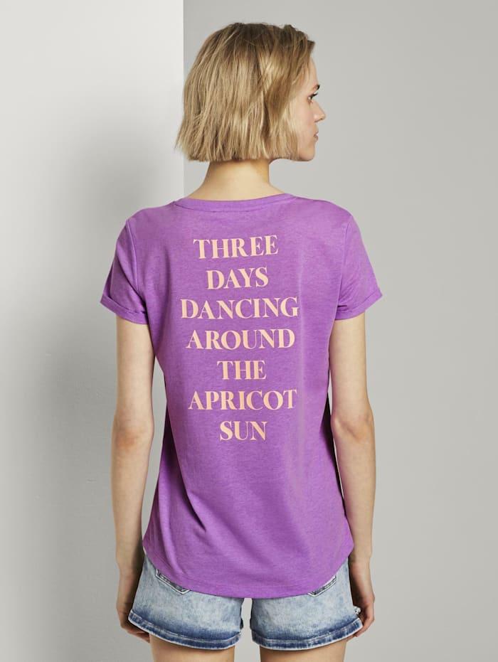 T-Shirt mit dezentem Print