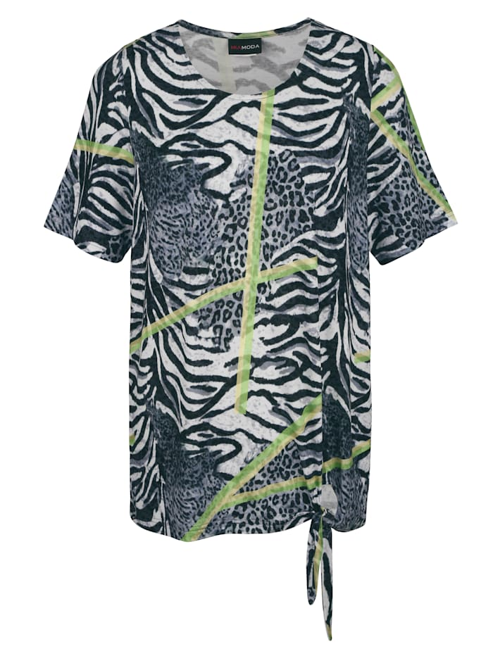 Tričko s detailem uzlu na lemu