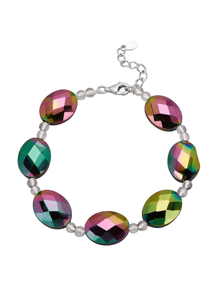 Armband aus Regenbogen-Achat, Multicolor