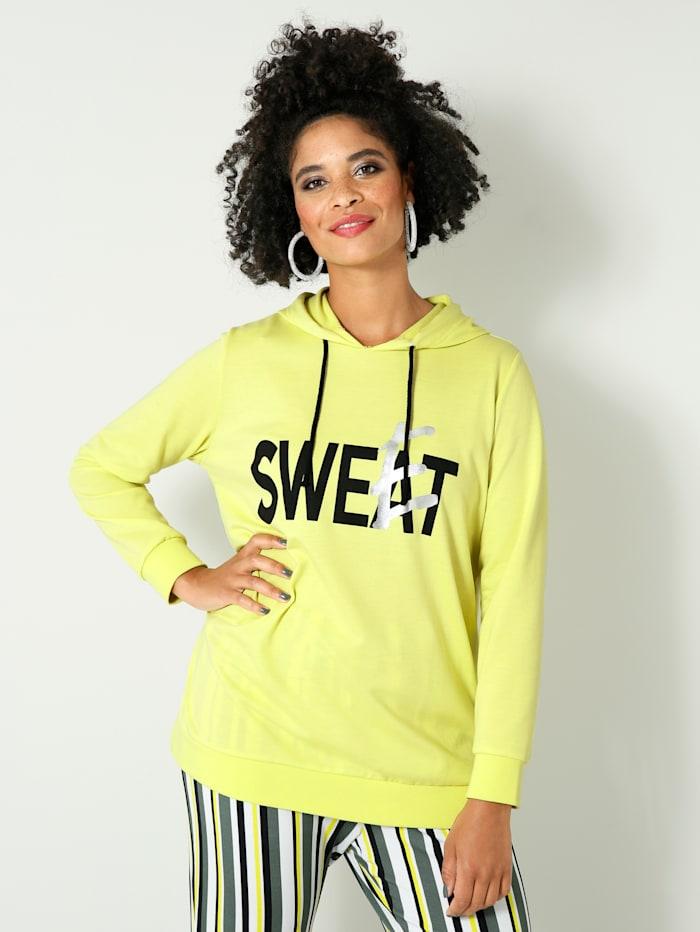 Angel of Style Sweat-shirt à imprimé, Jaune fluo