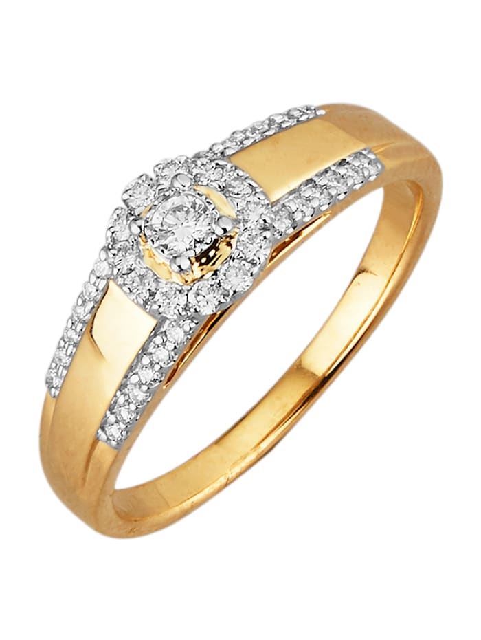 Amara Diamants Bague avec brillants, Coloris or jaune