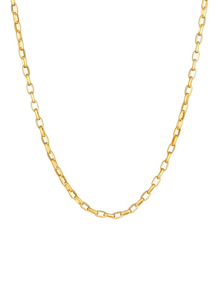 Halskette Herren Rundanker Oval Basic 925 Silber