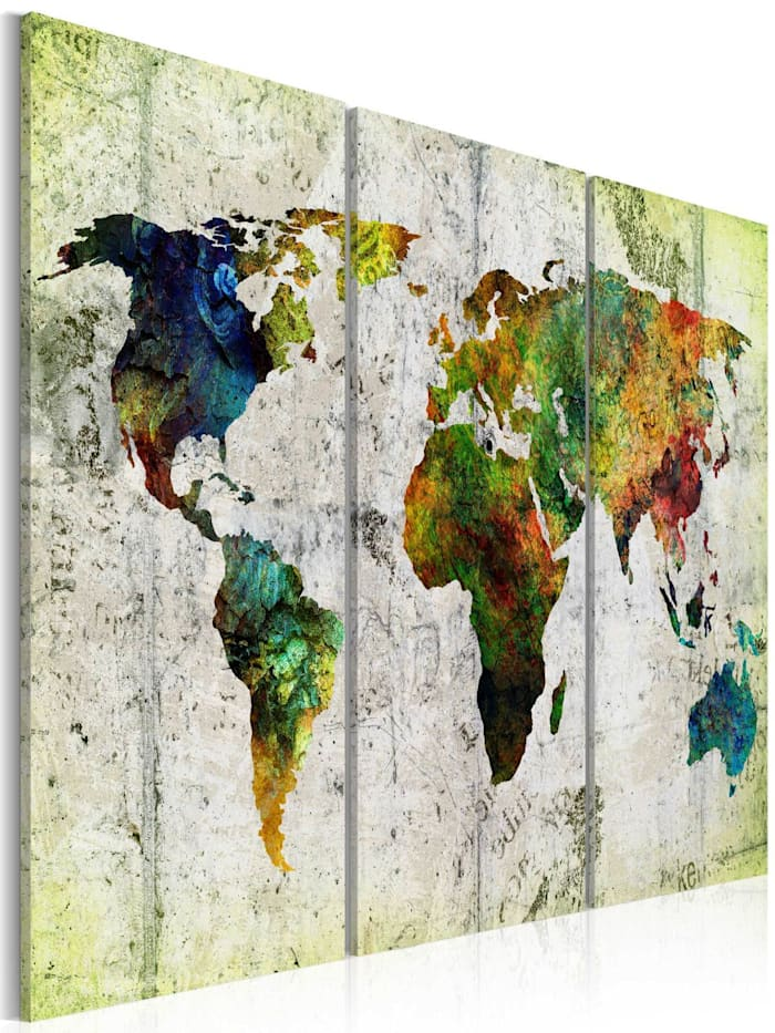 artgeist Wandbild Colourful Travels, mehrfarbig
