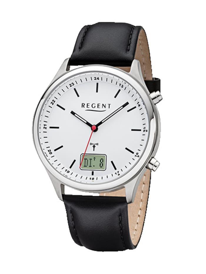 Regent Herren-Funk-Uhr 11030188, Schwarz