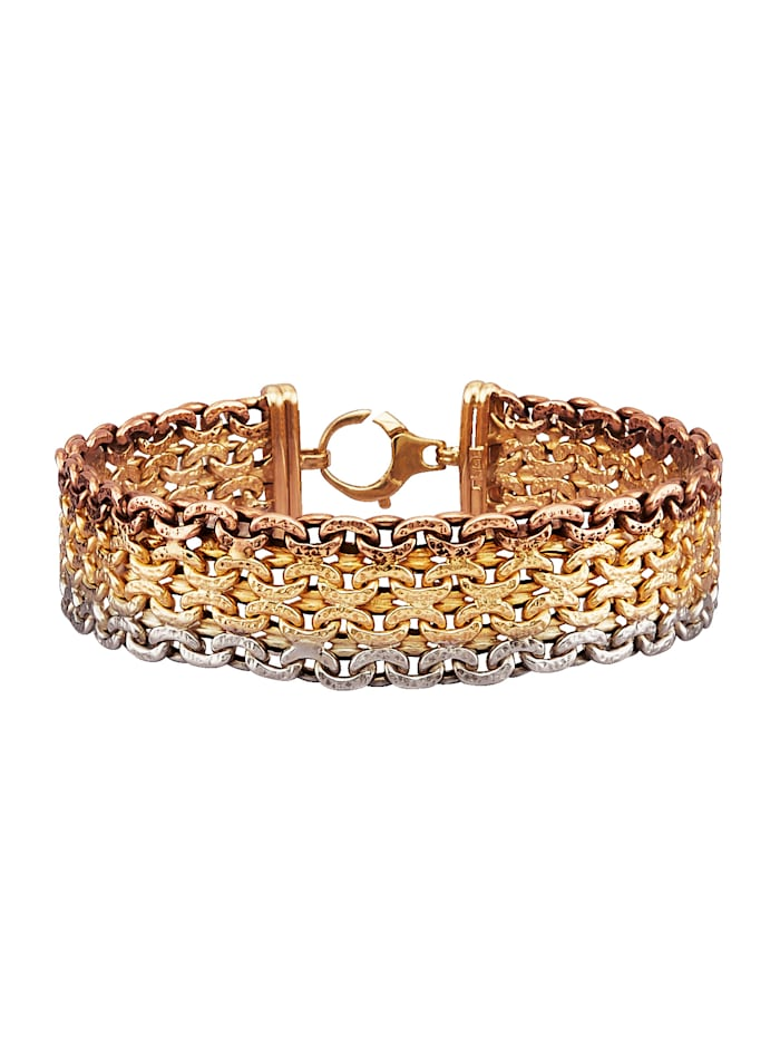 Diemer Gold Armband in Gelbgold 585, Multicolor