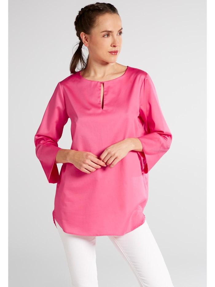 Eterna Eterna Dreiviertelarm Bluse für grosse Frauen MODERN CLASSIC, pink
