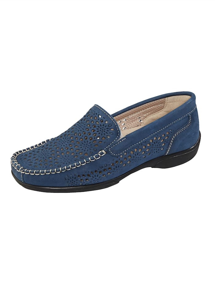 Naturläufer Moccasins made from leather, Blue