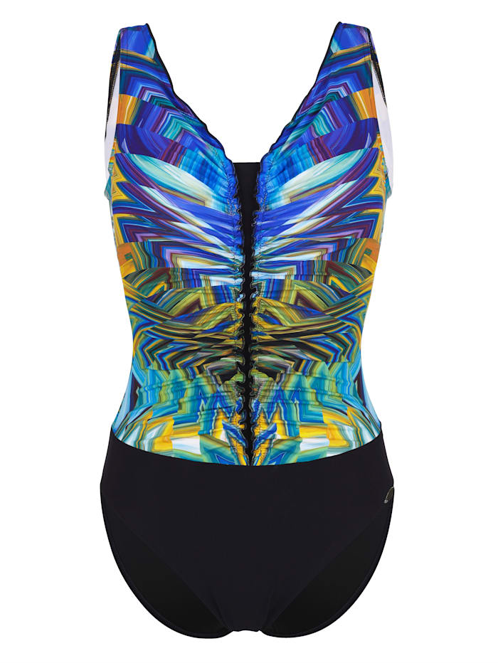 Sunflair Badeanzug mit figurgünstiger Schnittführung, Blau
