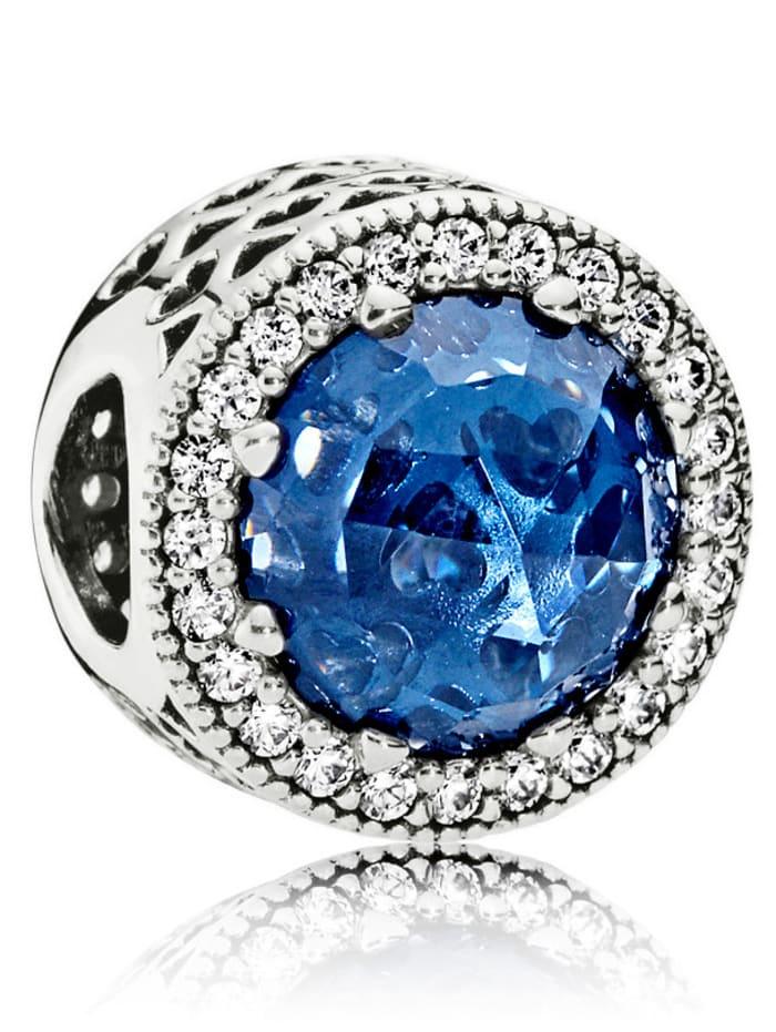 Pandora Charm -Mitternachtsblauer Strahlenkranz der Herzen- 791725NMB, Blau