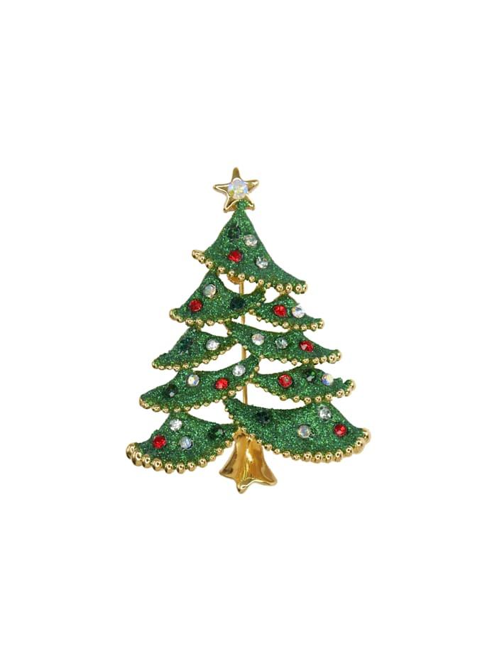 Fitz&Floyd Fitz&Floyd Brosche Baum grün mit Stern, Bunt