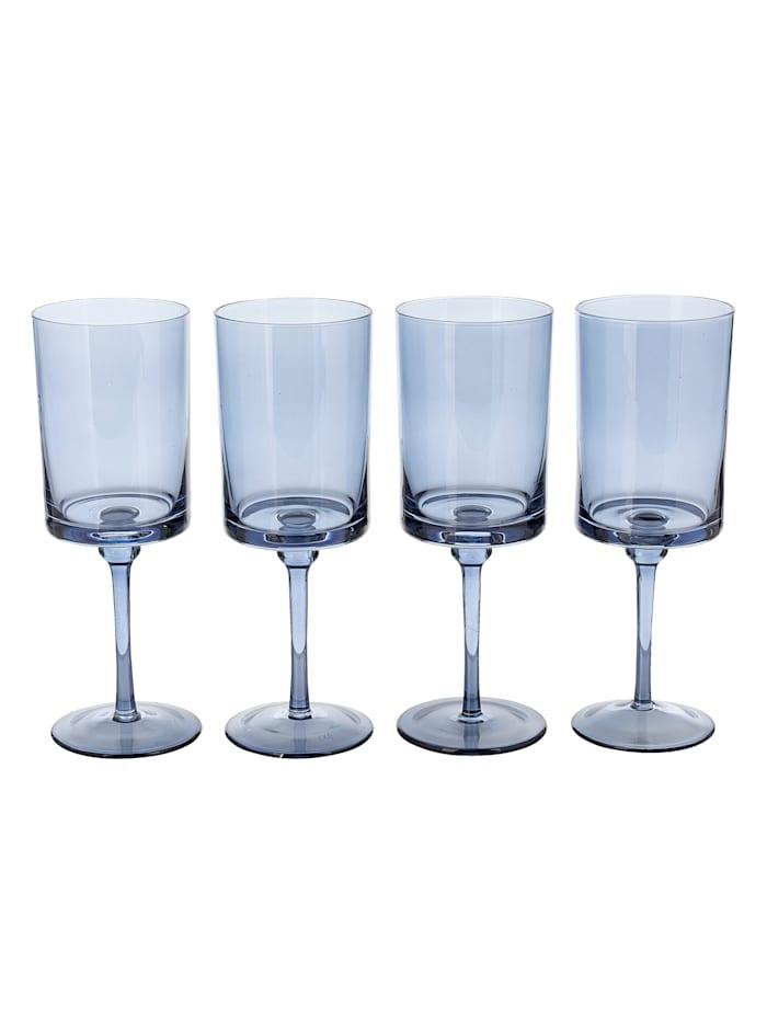 IMPRESSIONEN living Lot de 4 verres, Bleu