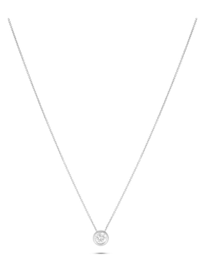 JETTE Silver Damen-Kette 925er Silber 1 Zirkonia