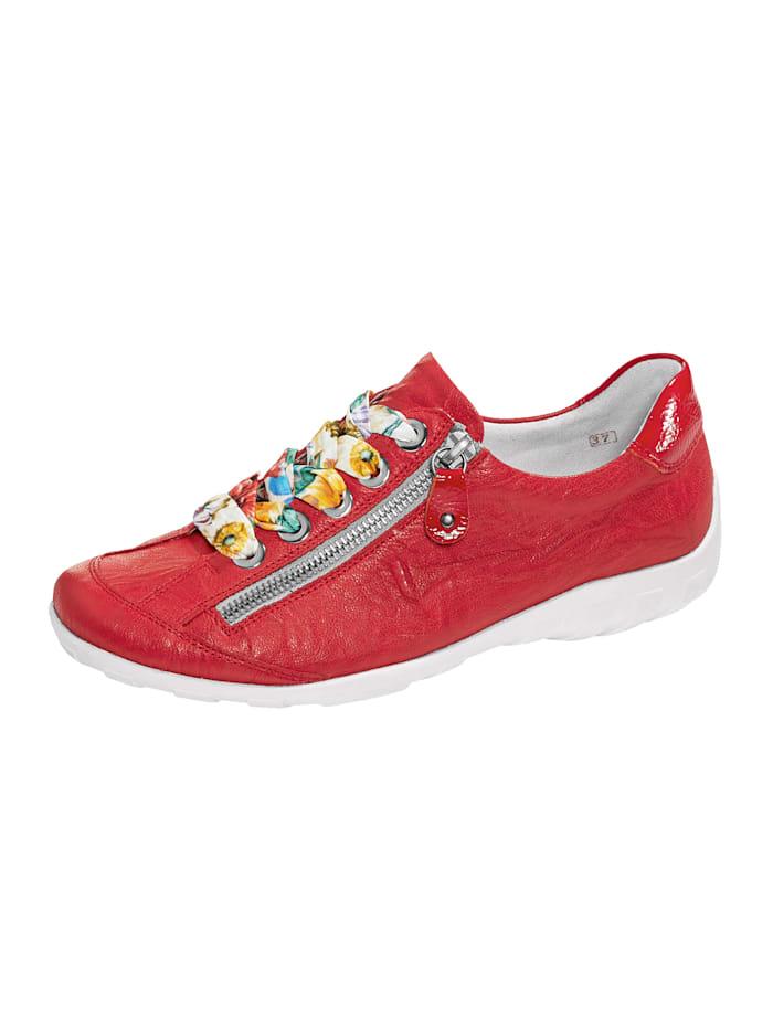 Remonte Schnürschuh mit separaten Paar roter Schnürsenkeln, Rot