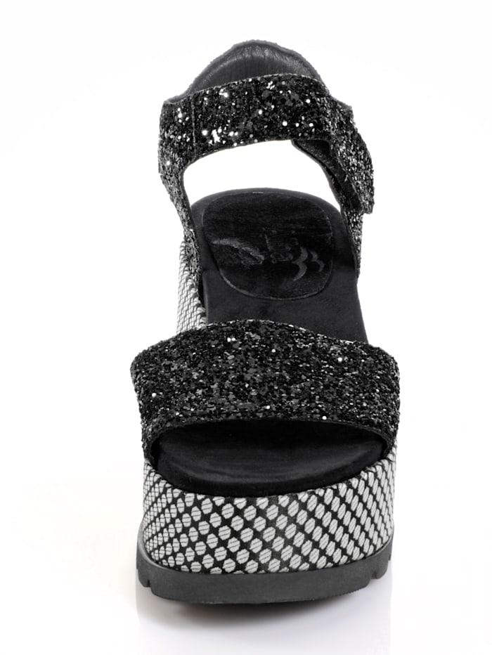 Sandalette in Glitter-Optik