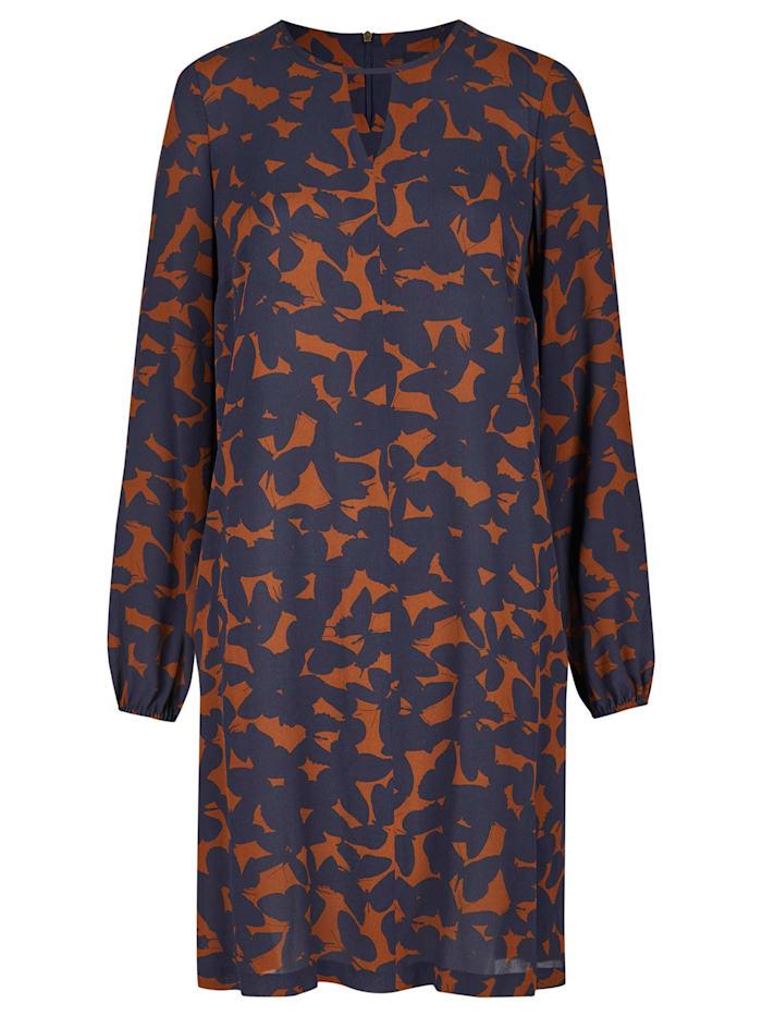 Daniel Hechter Modisches Kleid mit Schmetterlings-Print, midnight blue