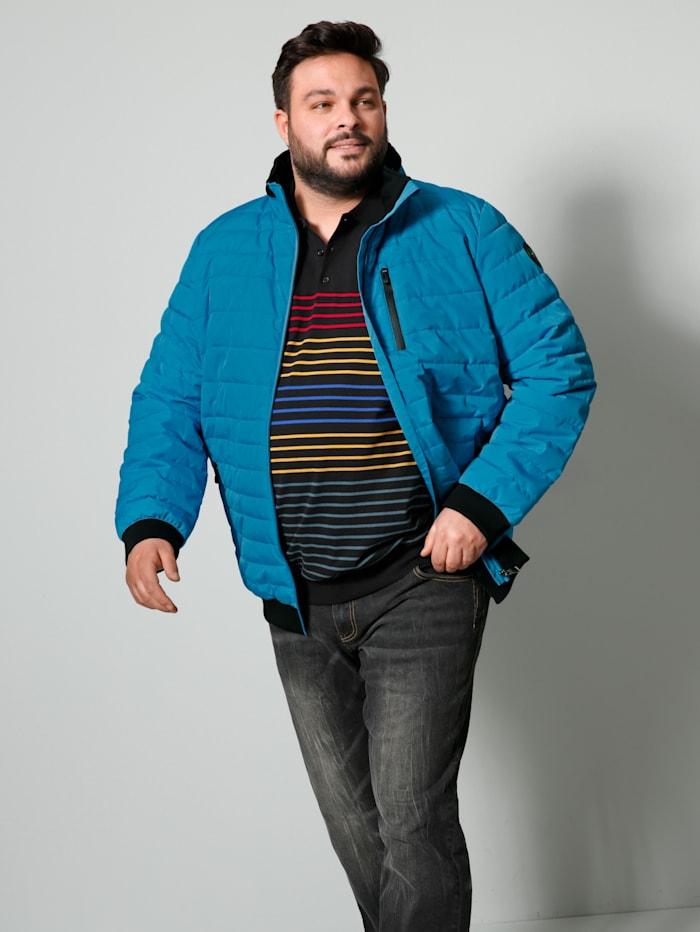 Prešívaná bunda so skladateľnou kapucňou