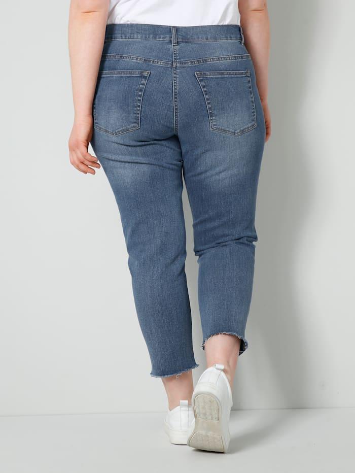 Jeans i tvättad look