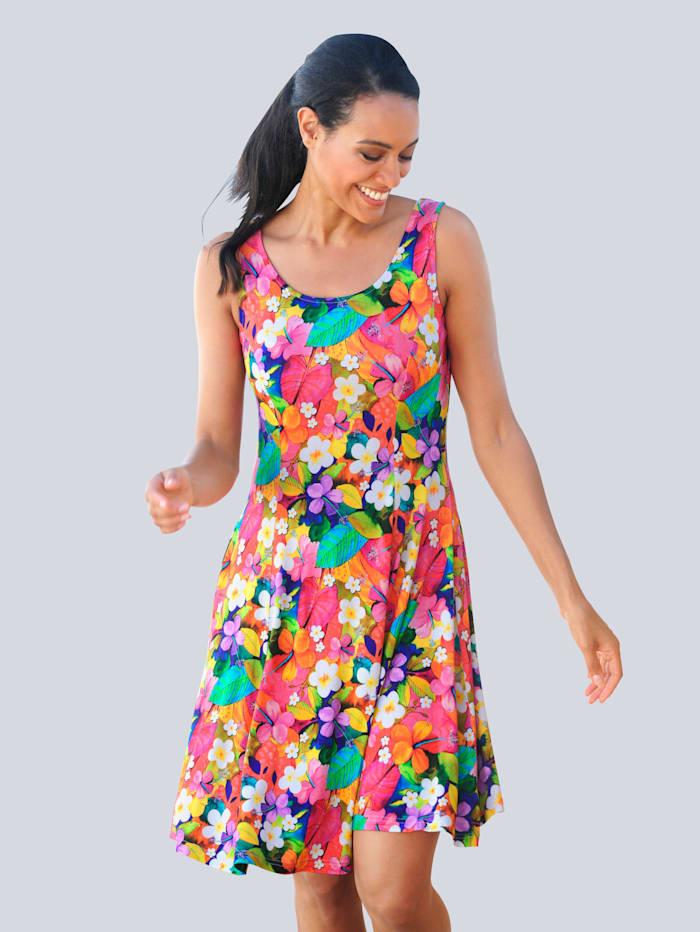 Alba Moda Strandkleid mit buntem Blumendruck, Multicolor