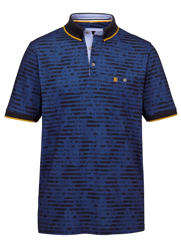 BABISTA Polo tričko s modernými kontrastnými detailmi, Modrá