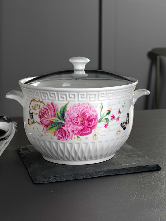 Porzellan-Suppenschüssel, mehrfarbig