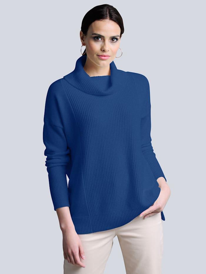 Alba Moda Pullover aus reiner hochwertiger Kaschmirqualität, Royalblau