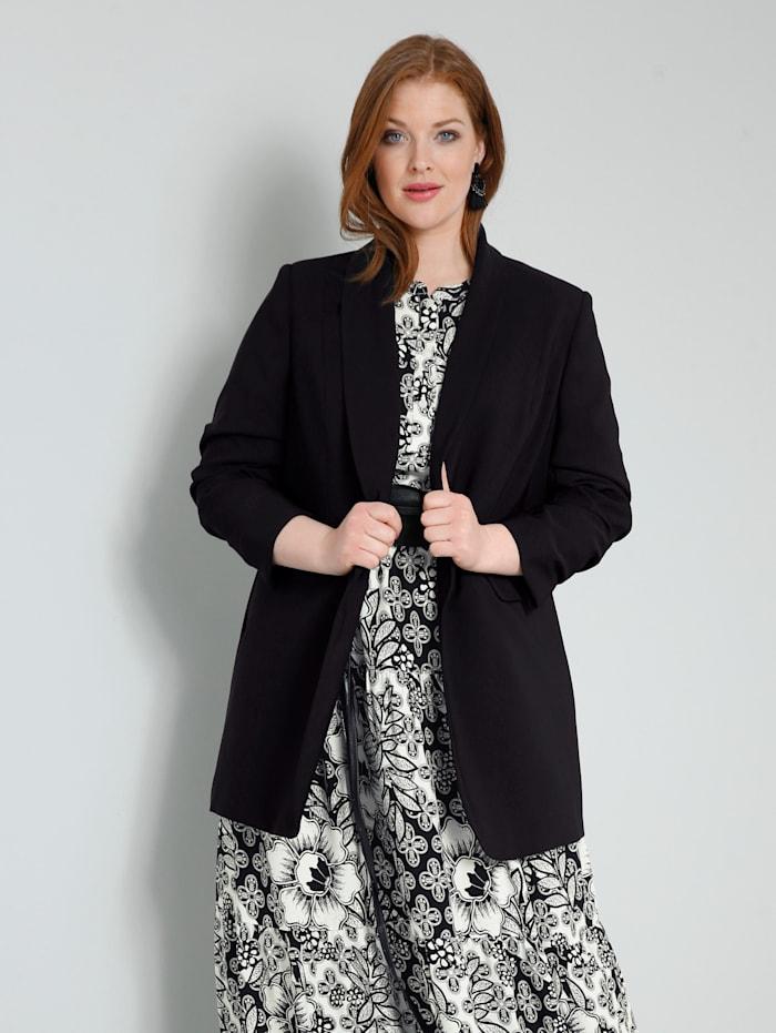 Sara Lindholm Blazer met mooie sjaalkraag, Zwart