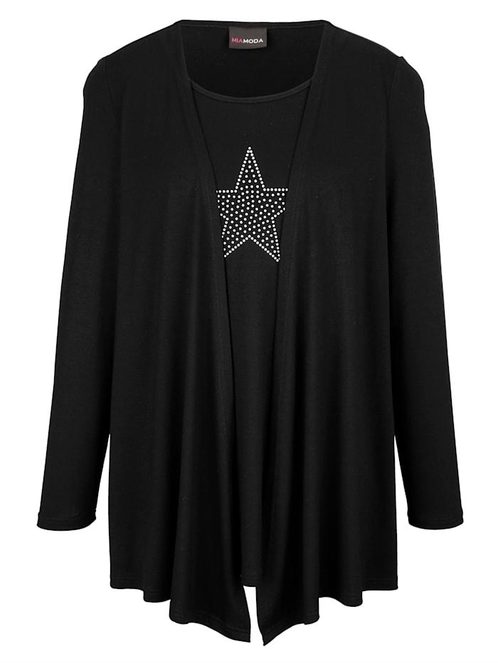 2-in-1 Shirt mit Sternenmotiv aus Nieten