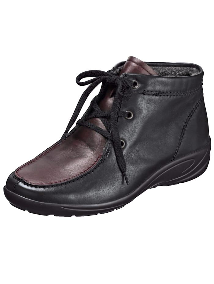 Semler Ankle boots, Black/Bordeaux