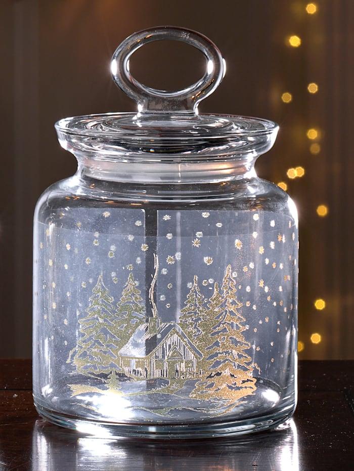 Ritzenhof & Breker Glazen pot Chalet Winter, Zonder kleur