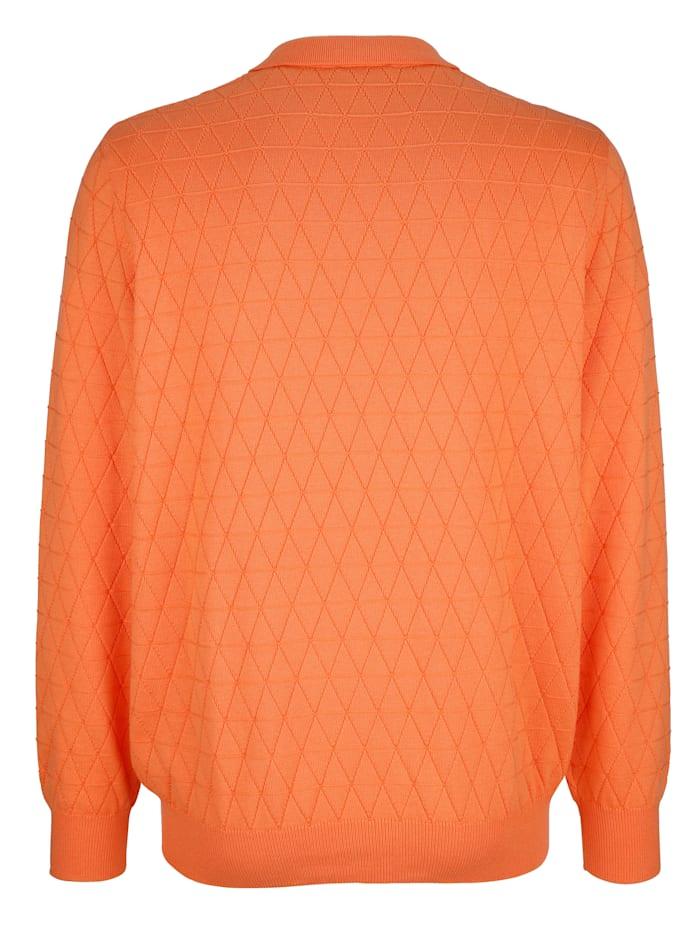 Pulovr s pleteným vzorem