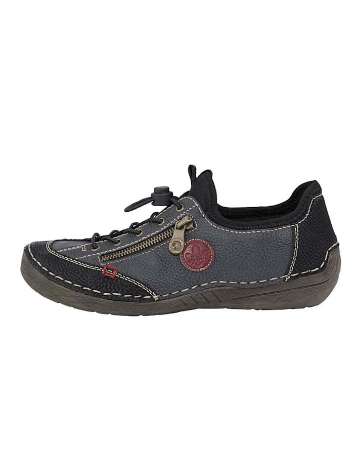 Slip-on shoes with decorative zip