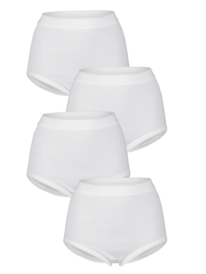 Harmony Taillenslips im 4er Pack, Weiß