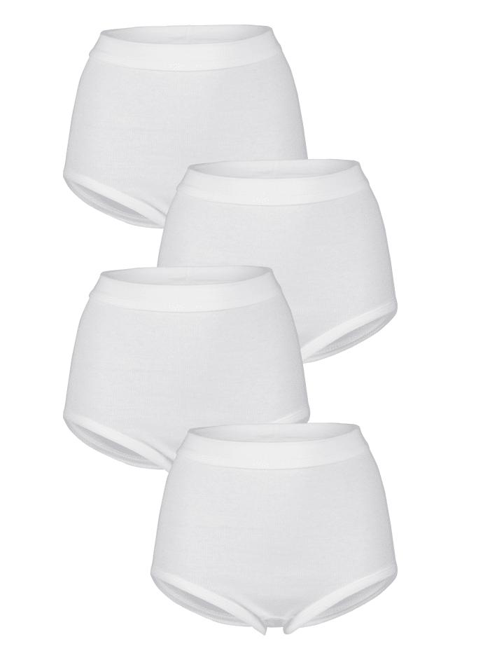 Harmony Taillenslips im 4er-Pack mit Weichbund, Weiß