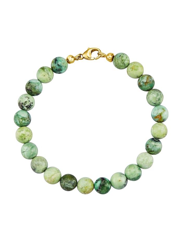 KLiNGEL Armband van echt zilver, Groen