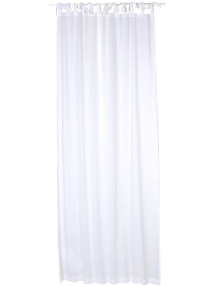 Living Vorhang-Set, 2-tlg., Weiß