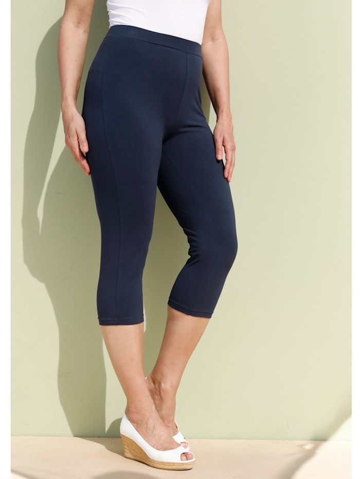 MIAMODA Leggings in bequemer Passform, Marineblau
